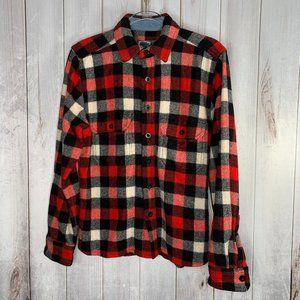 Woolrich Wool Chore Shirt Jacket Buffalo Plaid S